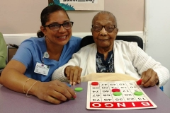 Resident-enjoying-day-long-bingo-games